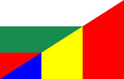 Bulgaria romania flag Royalty Free Stock Photography