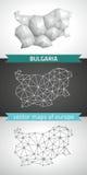 Bulgaria set of grey and silver mosaic 3d polygonal maps Stock Photos