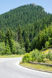 Bulgaria. A sharp turn road in the Rhodopes Stock Images