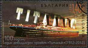 BULGARIA - 2012: shows Titanic,Titanic Centenary 1912-2012 Stock Photo