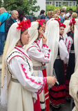 Bulgaria. A smoke break before the concert at the Nestinar Games in the village of Bulgarians Stock Photography