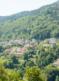 Bulgaria in Smolyan: house and mountains Royalty Free Stock Photography