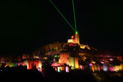 BULGARIA: Sound and Light Show. The Sound and Light audiovisual show on Tsarevets Hill, Veliko Tarnovo, Bulgaria. Want to know more about this unique performance Stock Photography