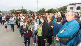 Bulgaria. Spectators at the concert at the Nestinar Games Stock Photography