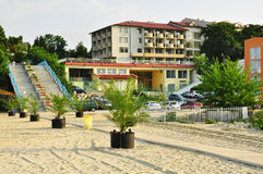 Bulgaria, St. Konstantine and Elena Resort. View of Dolphin hotel from the beach Royalty Free Stock Photos