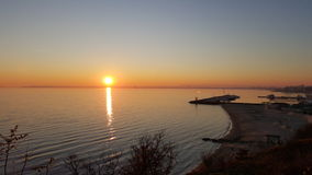 Bulgaria - Sunny Beach. Beautiful evening. Bulgaria - Sunny Beach royalty free stock image