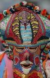 Bulgaria tradition Kukeri. Man with traditional Kukeri mask Stock Photos