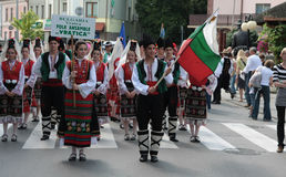 Bulgaria traditional folk group Royalty Free Stock Image