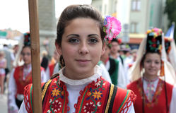Bulgaria traditional folk group Royalty Free Stock Photos