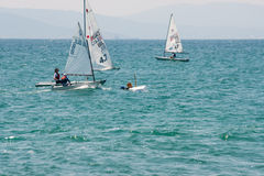 Bulgaria. The unfortunate twist on the sailing competitions in Pomorie Royalty Free Stock Photos