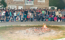 Bulgaria, village of Bulgarians. Coals for dancing on Nestenar games Royalty Free Stock Photography