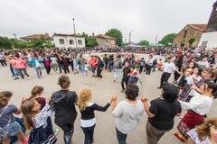 Bulgaria, village of Bulgarians. Dances, dances, dances on Nestenar games stock image