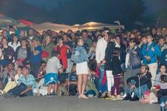 Bulgaria, village of Bulgarians. Night viewers on Nestenar games Royalty Free Stock Photo