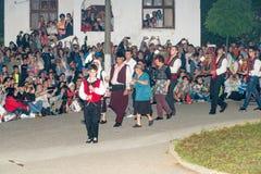 Bulgaria, village of Bulgarians. Orthodox night procession on Nestenar games Royalty Free Stock Photography