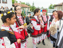 Bulgaria. Young amateur performers on Nestenar games in the village of Bulgarians Stock Image