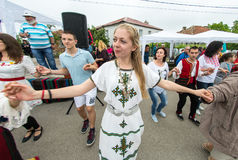 Bulgaria. Young lovers of national dances on Nestenar games in the village of Bulgarians Stock Photo