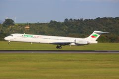 Bulgarian Air Charter royaltyfri bild