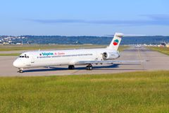 Bulgarian Air Charter McDonnel Douglas MD-82 LZ-LDS fotografia de stock