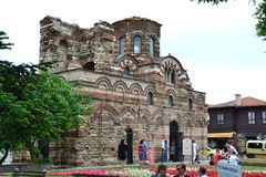 Bulgarian chirch in Nesebar. Bulgarian antient church in Nesebar. Sea town Royalty Free Stock Images