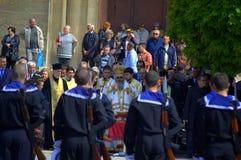 Bulgarian Army Day ceremony,Varna Bulgaria Royalty Free Stock Photo