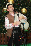 Bulgarian bagpiper. Christmas performance of bulgarian folklore formation in Mall Serdika -  24. 12. 2012, Sofia, Bulgaria Stock Image