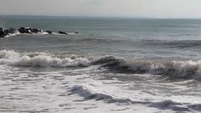 Bulgarian beach stone sins. Image was shot in Bulgaria beach stock footage