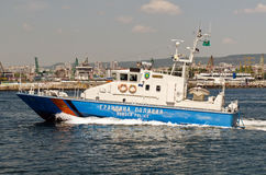 Bulgarian border police vessel Stock Image