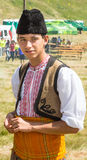 Bulgarian boy in national costume on folklore festival Royalty Free Stock Images