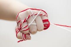 bulgarian caucasian traditionell handmartenitsa Arkivfoton