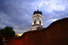 Bulgarian church belfry. Bulgarian church evening view,Plovdiv Old Town ,Bulgaria Stock Image
