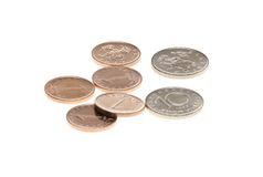Bulgarian coins isolated. On white background Stock Photo