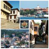 bulgarian collagelandmarks royaltyfri foto
