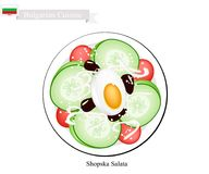 Shopska Salata, A Popular Dish of Bulgaria Stock Image