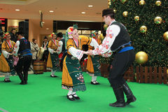 Bulgarian dancers Royalty Free Stock Photos