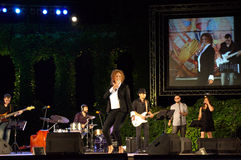 Bulgarian diva live concert performance Royalty Free Stock Images