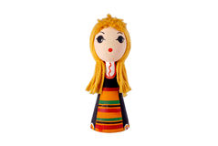 Bulgarian doll in traditional costume Stock Photography