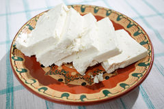 Bulgarian feta cheese stock images