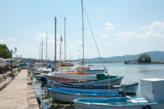 Bulgarian fishermen boats Stock Image