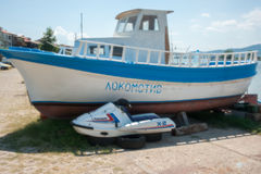 Bulgarian fishermen: old and new Stock Photography