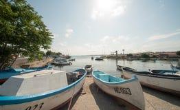 Bulgarian fishing boats in Nessebar Royalty Free Stock Photos