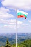 bulgarian flagę Zdjęcia Stock