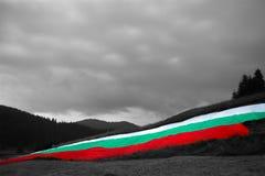 bulgarian flagę Zdjęcie Royalty Free