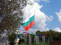 bulgarian flagę Fotografia Stock