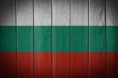 bulgarian flagę Zdjęcie Stock