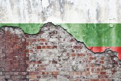Bulgarian Flag On Grungy Wall Royalty Free Stock Image