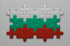Bulgarian flag of puzzle pieces Royalty Free Stock Images
