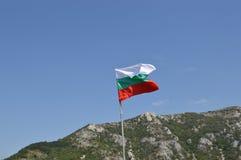 Bulgarian flag. The Bulgarian flag on top of Asenov Fortress Stock Images