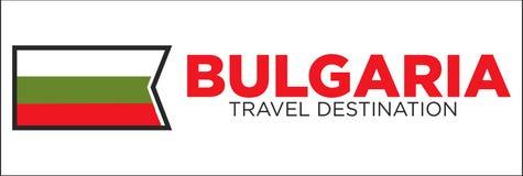 Bulgarian flag and travel destination words Royalty Free Stock Photos