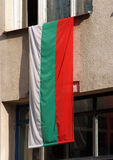 bulgarian flagga Arkivfoto