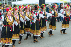 Bulgarian folk artists at the Nestinar Games in the village of Bulgari Royalty Free Stock Image